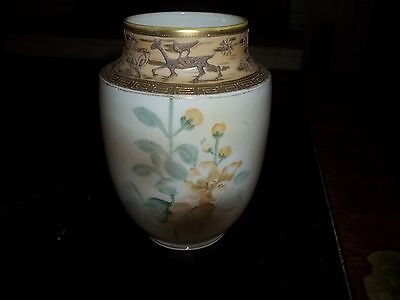 Nippon hand painted 7 1/4 in vase