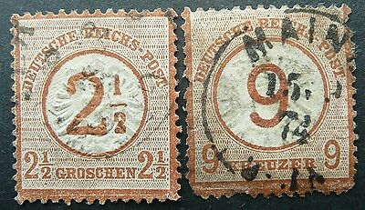 Germany 1874 Stamps Of 1872 With Overprints - Used - See!