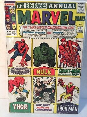 Marvel Tales (1964 Marvel) vg+ #1 no 1. first issue. 25c