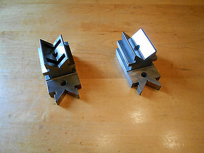 Vintage L S STARRETT V-BLOCK Steel Athol Mass. No. 567 Lot of 2