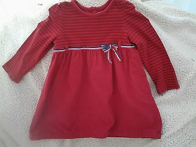 M&co Baby - Red Long Sleeved Dress - Age 18-24 Months