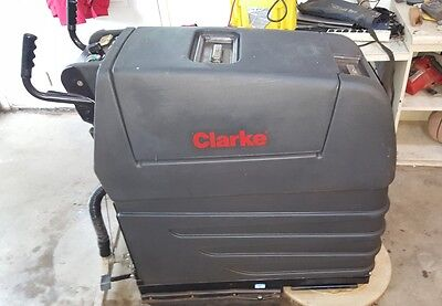 "Clarke Vision 20B 20"" Pad Assist Floor Scrubber W/ Batteries Tennant Nobles Kent"