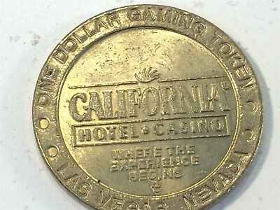 California Hotel Casino One Dollar Gaming Token Chip Las Vegas, NV