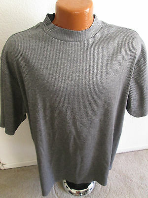 Mens NIKE Tiger Woods Mock Turtleneck Short Sleeve Shirt - Size XL - Gray