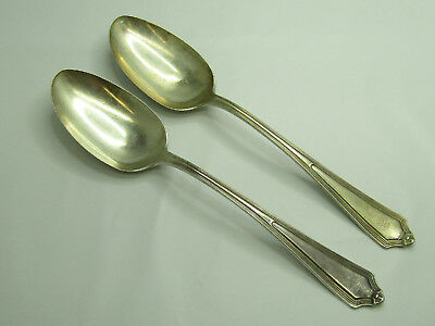 "Sterling Silver Hallmarked Pair of 8 1/2"" Long Flatware Silverware Spoons"