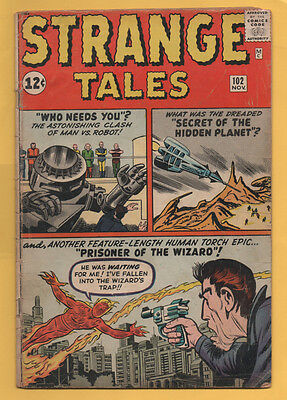 Strange Tales #102 Marvel Comics 1962 1st Appearance of the Wizard VG