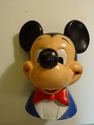 Vintage Disney Mickey Mouse Head Bank 1971