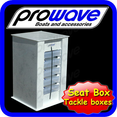 Boat Seat box with tackle boxes 350L x 350W x 600H