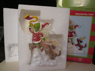 Department 56 Grinch Village GRINCH & MAX, A TOOT 4047198 BNIB Dept 56 And Max