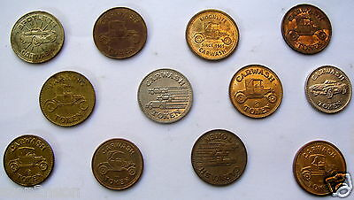 T A V8 Ford  Coupe picture Trade Tokens Coins 12 Vintage Car Wash Parking Cheap