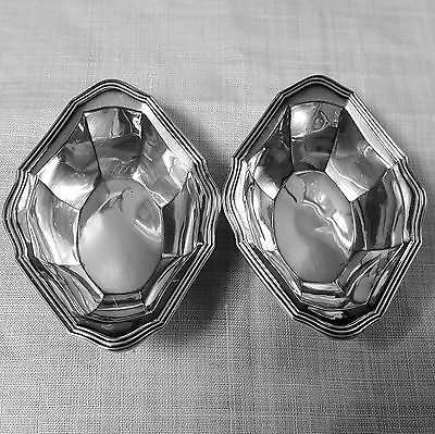 Pair of Alvin A37 classical style nut dishes in sterling silver NO mono