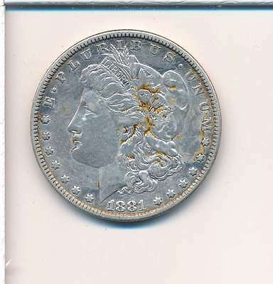 1881 Morgan Silver Dollar Vf-Ef S010