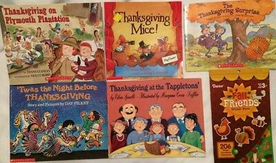 Lot of 18 Children's Holiday Thanksgiving Day Picture Books K5-3rd Grade