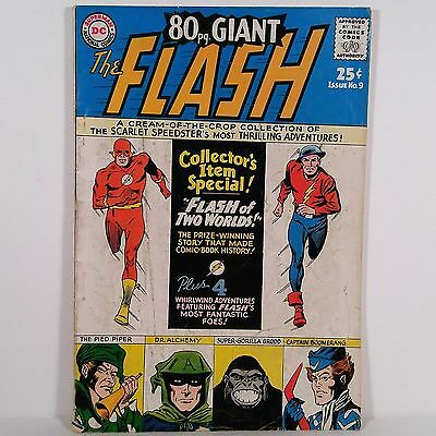 80 pg. Giant No. 9 The Flash - Superman DC National Comics April 1965 NR