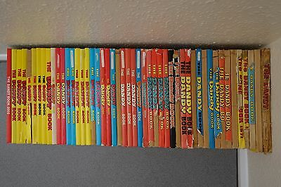 The Dandy annuals - huge collection of 49 annuals (1956-2002) joblot