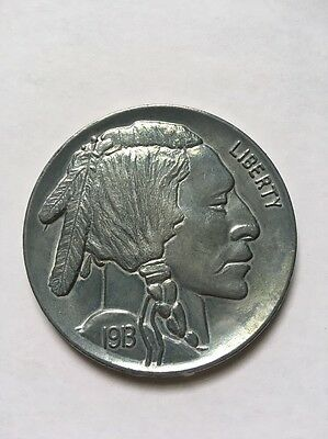"""Vintage Oversized Large 3"""" Novelty Coin 1913 Buffalo Indian Head Nickel Metal"""