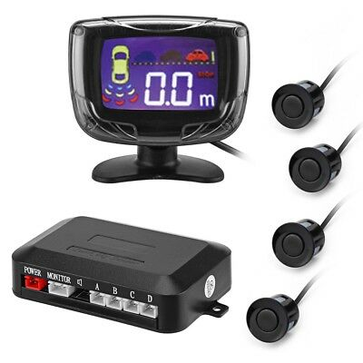 LCD Digital Car Parking Sensor Backup Reverse Radar Alert System with 4 Sensors