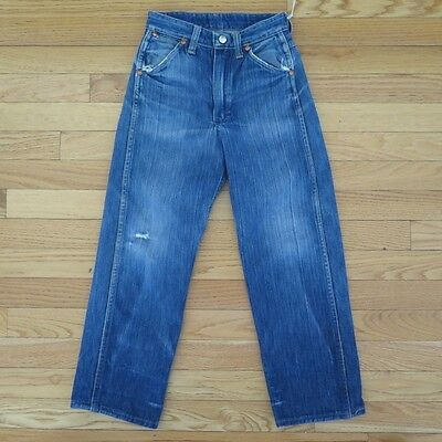 VINTAGE ORIGINAL DENIM JEANS PANTS WRANGLER BLUE BELL KIDS SIZE 8 1950's TALON