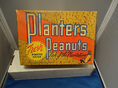 Planters peanuts nut vtg store display box 5 cent 1930's advertising  character