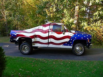 1981 Chevrolet silverado 3500l pick up truck 1981 Chevrolet Siverado 3500 Custom built American Flag Truck