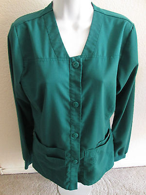 Grey's Anatomy By Barco Long Sleeve Button Scrub Top/Jacket - Size S - Green