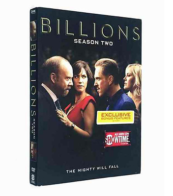 Billions Season 2(DVD, 2017,4-Disc Set) Free shipping