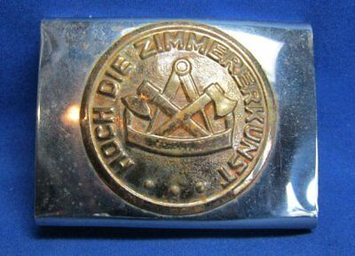 Vintage German Hoch Die Zimmerkunst Belt Buckle