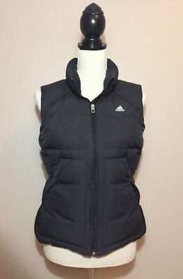 Women's black ADIDAS DuPont Downlining puffer vest - Size Small