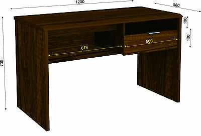 Office Computer Desk Table Home Student Study 1200mm 1DRW - Oak