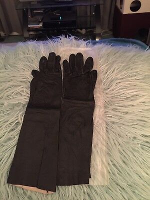 Vintage France Long Gloves Wanamakers Leather