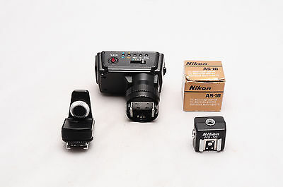 Nikon Flash Attachment Assortment As-7..as-8...as-10 With Box