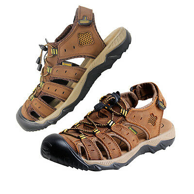iLoveSIA Men's Leather Walking and Hiking Sandals