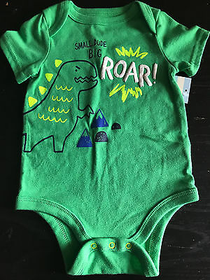 T-Rex Green roar Soft Baby One Piece 3-6M New with tags