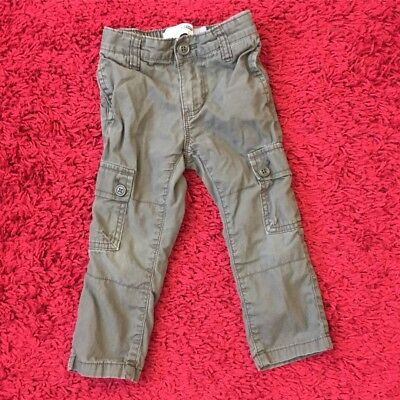 Toddler Boys Old Navy Olive Green Cargo Pants Size 2t Fall
