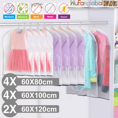 10PCs Clear Clothes Dress Protector Covers Garment Cover Storage Bag Dust Proof