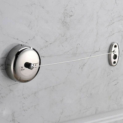StainlessSteel Retractable Clothesline Adjustable Clothes Dryer String Line New