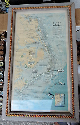 Ghost Fleet of the Outer Banks Nautical Map-Framed 1970