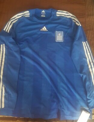 Greece Shirt Adidas Away 07/09 Player Issue Formotion Longsleeve