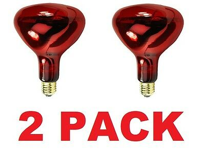 Damar Infrared Bulbs 250W 250 Watt 130V Red Heat Lamp Buffet Warmer (2 PACK) NEW