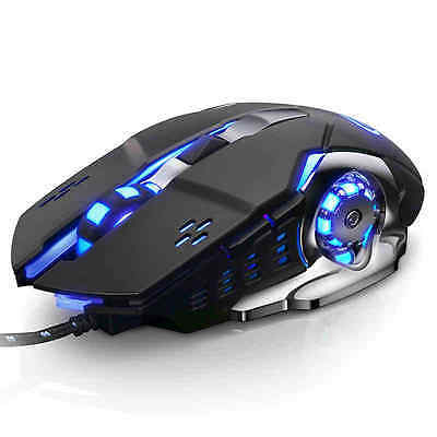 G3 Wired Metal 4-Color Breathing Light 6-Button + 3200DPI Optical Gaming Mouse
