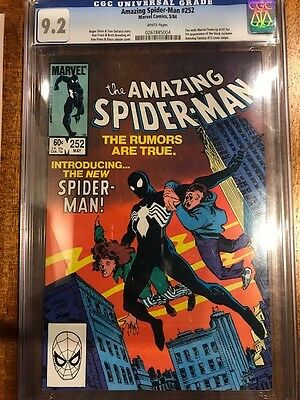 Amazing Spider-man # 252 CGC 9.2  White Pages - 1st appearance of the black suit