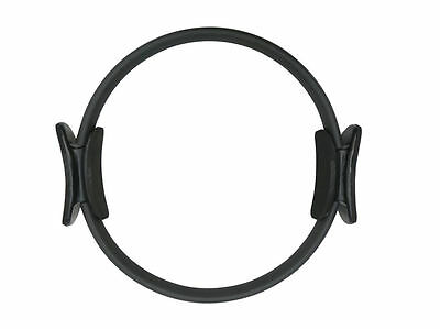 Pilates Double Handle Ring - Dual Grip Pilates Magic Exercise Circle - Black