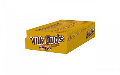 903183 x 12 MILK DUDS MADE WITH CHOCOLATE AND CARAMEL THEATRE BOX SIZE CHOCOLATE