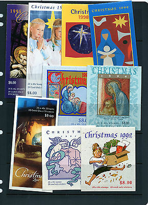 9 diff. CHRISTMAS BOOKLETS  FV $71.60 USED/CTO   CHEAP  see 2 scans