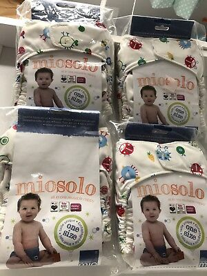 4 Miosolo Brand New All In One Reusable Nappies
