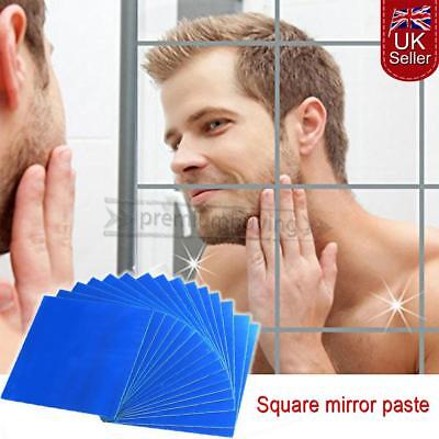Mirror Tiles Self Adhesive Back Square Bathroom Wall Stickers Mosaic 9/16 PACK