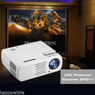 Promotion! 4500Lumens 1080 HD 3D SUPPORT LED VIDEO PROJECTEUR AV/HDMI/ATV/VGA FR