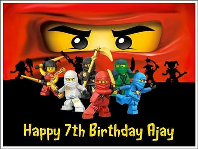 Lego Ninjago Edible Icing Edible Wafer Paper Birthday Cake Toppers