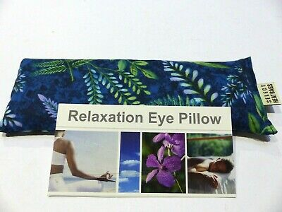 Cotton Eye Pillow Linseed Yoga NATURE FERNS 24 x 8 cm Choose scent 180+ grams