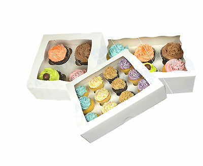 Premium Window Cupcake/Muffin Boxes 1, 4, 6, 12 Cupcakes/Muffins 1ST CLASS POST